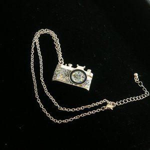 Glittery Camera Pendant NWOT